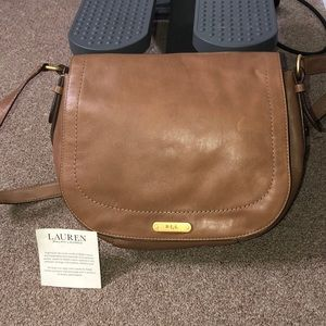 Ralph Lauren Tan Leather Bag